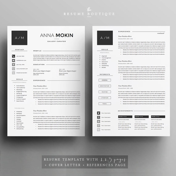 5 pages cv    cv template - lettre de motivation