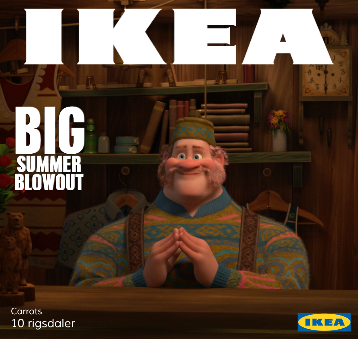 Hoo Hoo Big Summer Blowout Ikea Style This Is The Best Image Yet Frozen Funny Photos Blowout Frozen