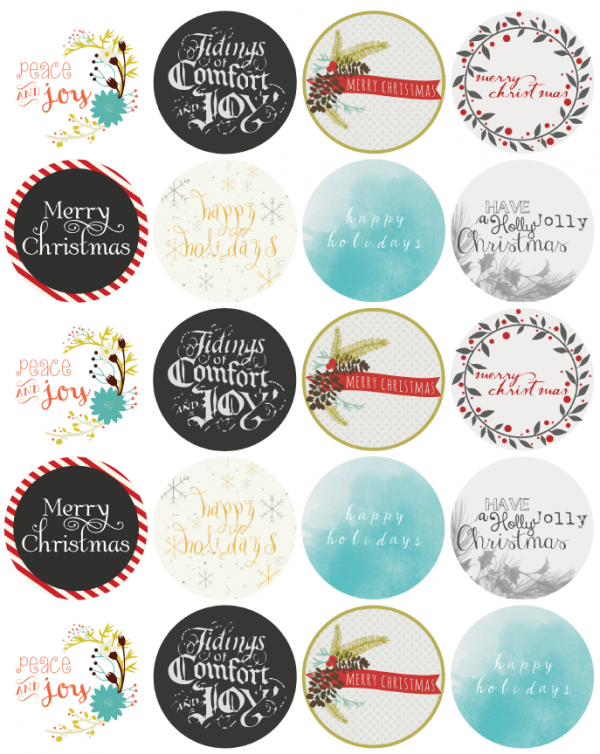 assorted christmas free printables printable labels and tags
