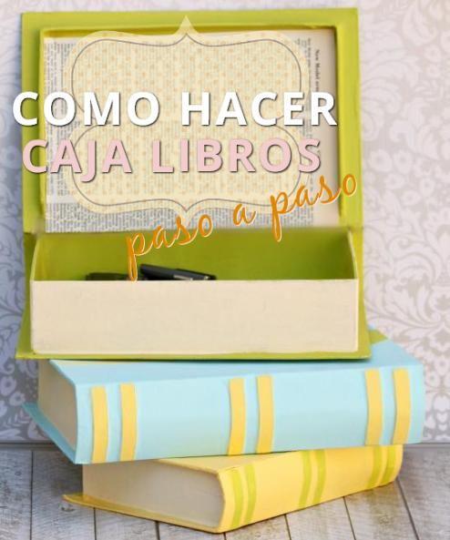 efe2d9d232a7 Como Hacer Libros Falsos Cajas (Manualidades Gratis) | Manualidades ...