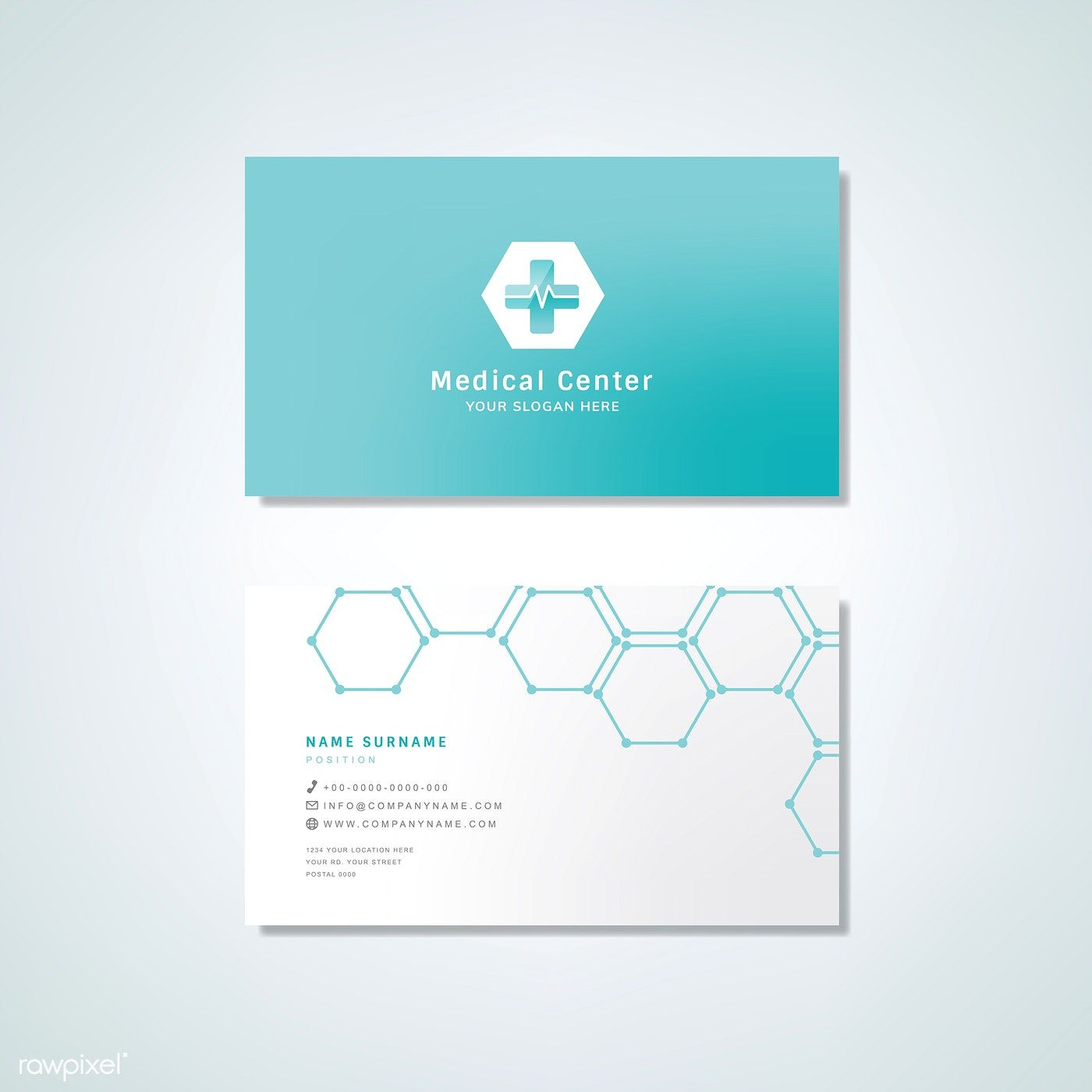 Medical Professional Business Card Design Mockup Free Image By Rawpixel Com Business Card Design Medical Business Card Professional Business Cards