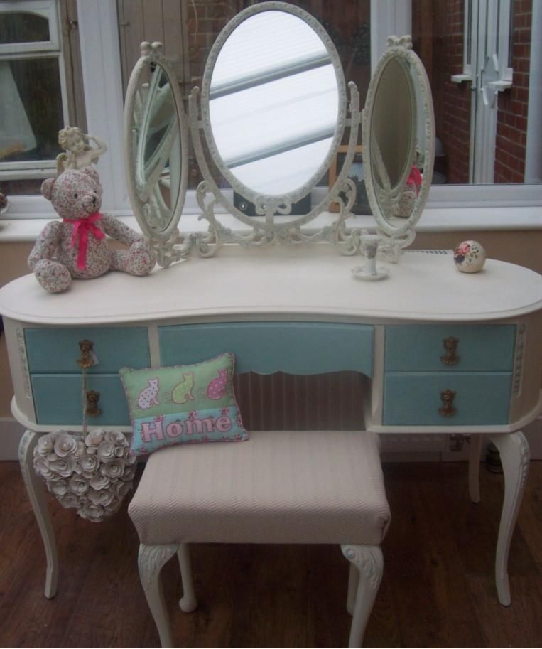 1000 Images About Kidney Shape Tables On Pinterest: SHABBY CHIC KIDNEY SHAPED LOUIS FRENCH STYLE TRIPLE MIRROR