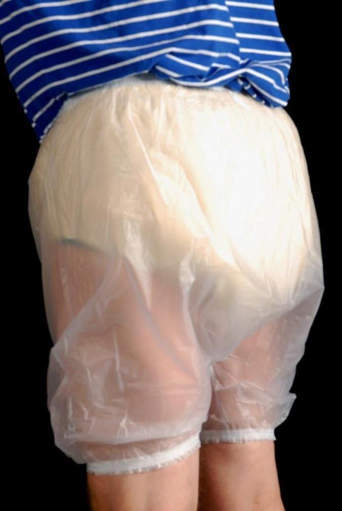 Crossdresser Sissy Ab Dl Bloomer Boxers Pvc Frosted Size