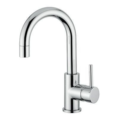 AndoliniHomeDesign Novara Single Handle Surface Mount Sink Faucet With Swivel Spout