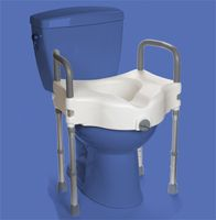 Raised Toilet Seat With Legs Offers A Very Stable Platform