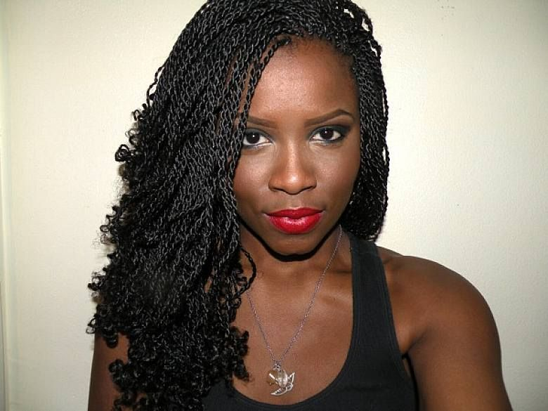 simple twist braids hairstyles for black women with long hair