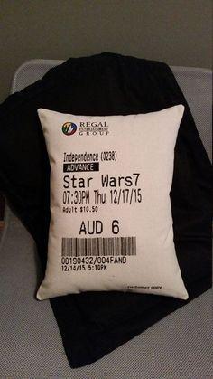movie ticket stub pillow concert broadway ticket engagement