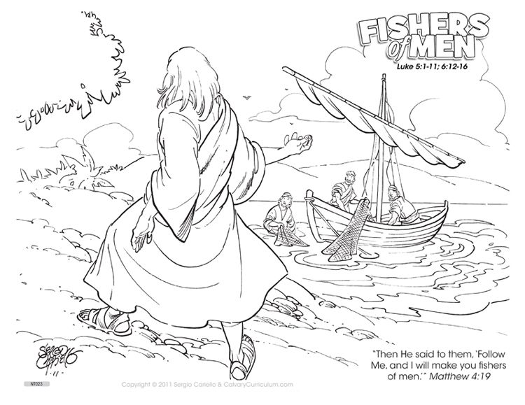 Fishers Of Men Color Page Fisher S Of Men Coloring Pages Http Calvarycurriculum Blogspot C Bible Coloring Pages Sunday School Coloring Pages Coloring Pages