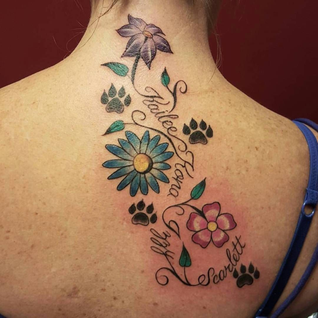 90+ Best Paw Print Tattoo Meanings and Designs Nice