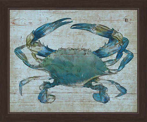 Crab Framed Canvas Print Reviews Joss Main Graphic Wall Art Art Wall Art