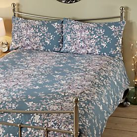 By Sainsbury S Teal Fl Print Duvet Cover Set