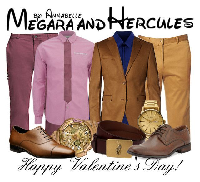 """Megara and Hercules - Valentine's Day"" by annabelle-95 ❤ liked on Polyvore featuring Madison Supply, Calvin Klein Collection, Scotch & Soda, Bobby Jones, Saks Fifth Avenue, Nixon, G-Shock, Ralph Lauren, Robert Wayne and Ermenegildo Zegna"