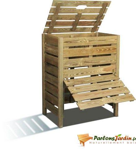 bac compost tibeo 400l jardin composteur bois. Black Bedroom Furniture Sets. Home Design Ideas
