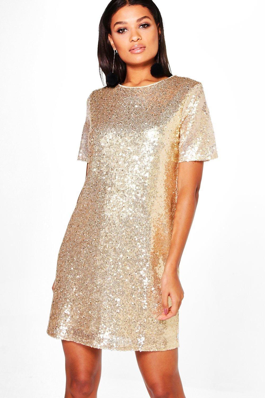 46835f870a3 Boutique Lacey Sequin T-Shirt Dress