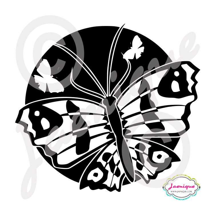Buttlerfly Vinyl Decal Sticker Three Butterflies Scene in Cirlce Car Binder Laptop Locker Helmet 62 Colors Available - pinned by pin4etsy.com