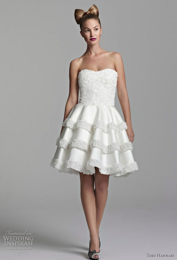 bd8962fdb3 Short Wedding Dress-Nataliya-TobiHannah but wear for reception or day after  brunch