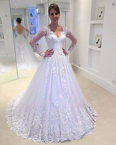 Online Sell Wedding Dress With SleevesDresses For BridesBridal Gown
