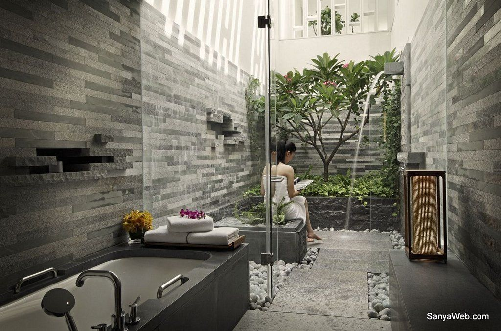 Superior water garden view bathroom bathrooms for Home garden bathroom designs