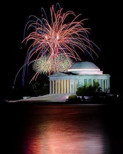 Jefferson Memorial Fireworks Fireworks Jefferson Memorial Capital Of Usa