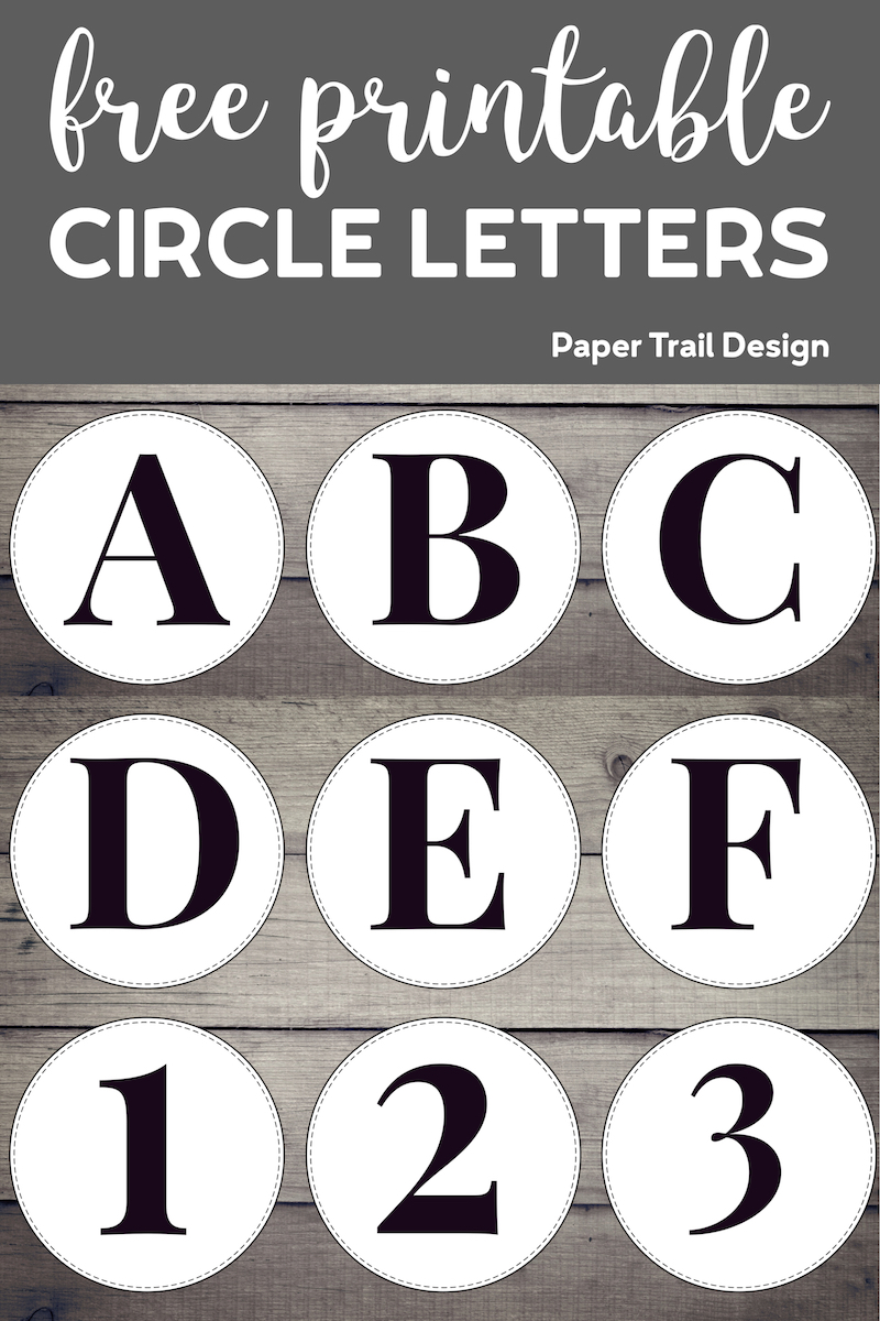 Diagram Free Printable Circle Banner Letters Entire Alphabet
