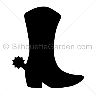 Cowboy Boot Silhouette Silhouette Clip Art Silhouette Cowboy Boots