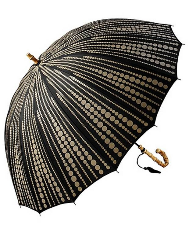 21400ea66 Gorgeous brolly with bamboo inspired curved wooden handle and lovely  tassel- let it rain!
