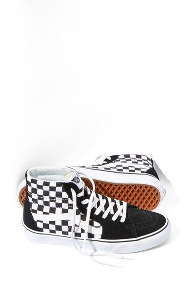 6c9d8f20433 Free shipping and returns on Vans 'Sk8-Hi' Sneaker (Unisex) at Nordstrom.com.  Retro checks amp up the attitude on a cool skate sneaker detailed with  sporty ...