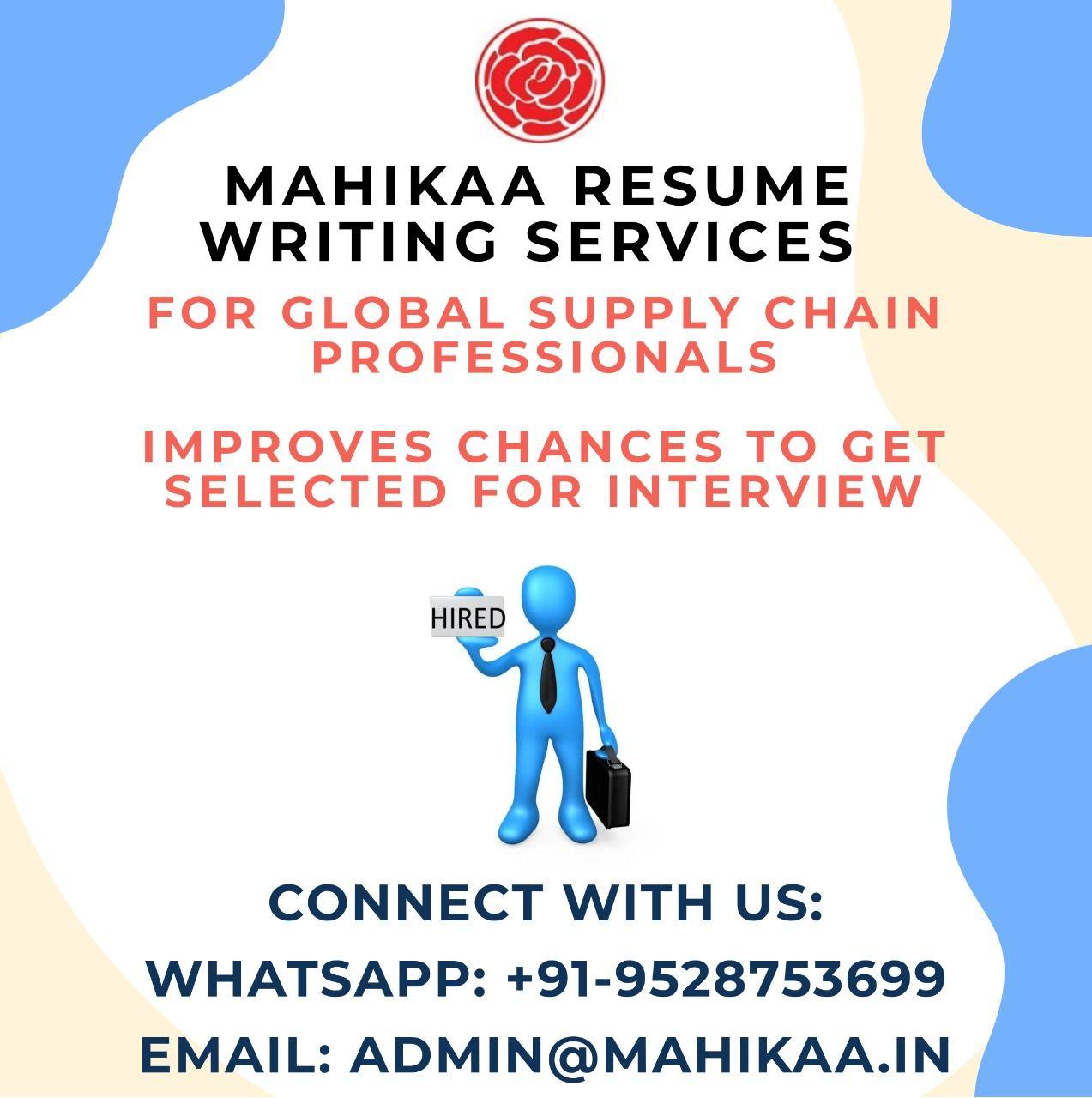 Mahikaa resume writing services for freshers get