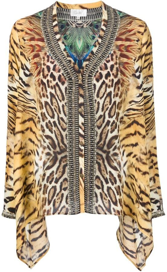 872777c8a3 Camilla animal print blouse | My Style | Animal print blouse, Animal ...