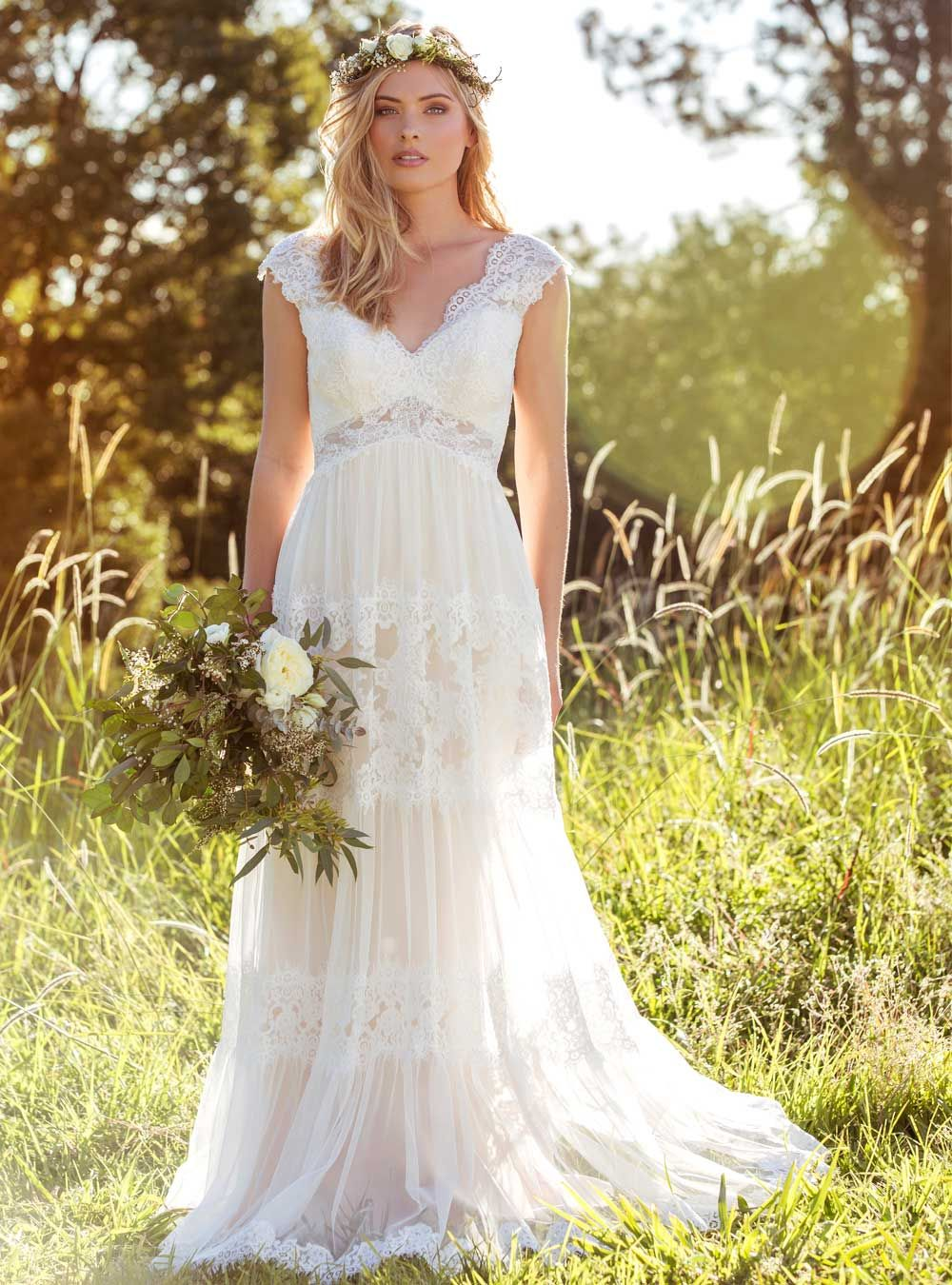 L1037-LUCINDA-MIA-SOLANO-SOFT-BOHEMIAN-LACE-BEACH-WEDDING-DRESS-LUV ...