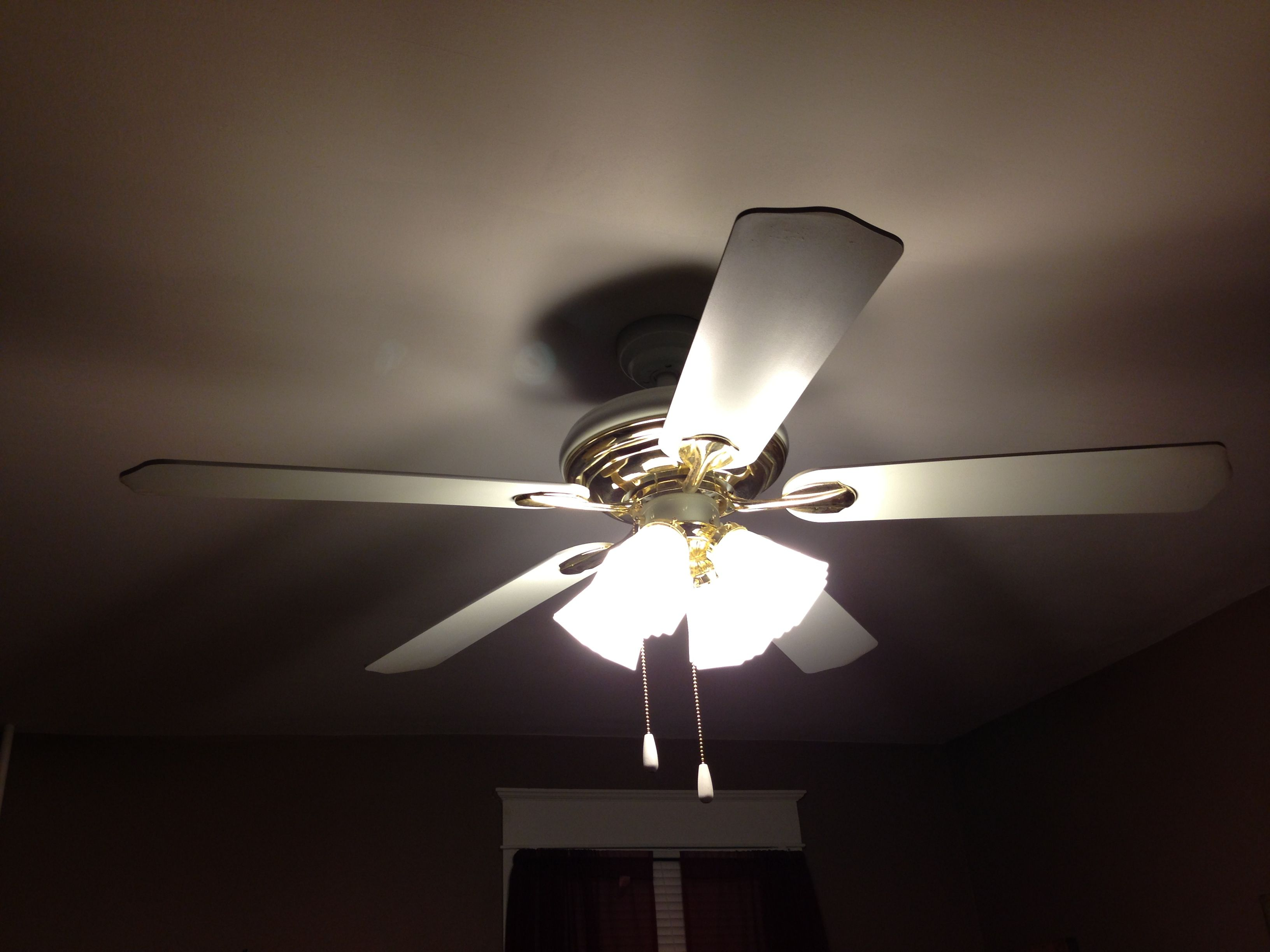 Fix That Annoying Tick Your Ceiling Fan Makes Check And Tighten Screws About Motor Where The Cotter Pin Is Che Diy Household Tips Ceiling Fan Household Hacks