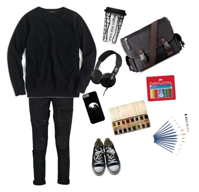 """""""S.U.H"""" by coffee-grove ❤ liked on Polyvore featuring J.Crew, Converse, Faber-Castell, Dot & Bo and Skullcandy"""