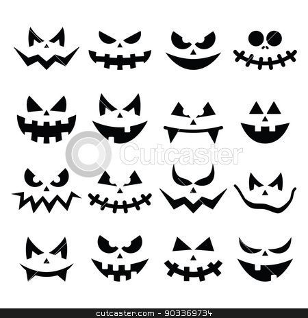 Image Result For Scary Pumpkin Faces To Draw Scary Halloween Pumpkins Halloween Stickers Scary Pumpkin