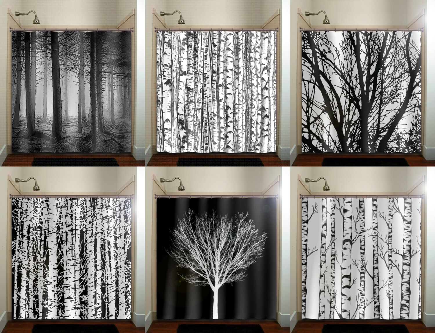 Pin By Rachel Y On Decor Curtains Tree Shower Curtains Shower