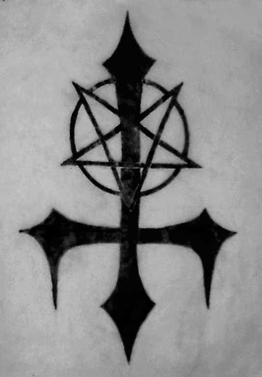 Upside Down Cross Inverted Satanic Cross Symbol Of Satan Demons