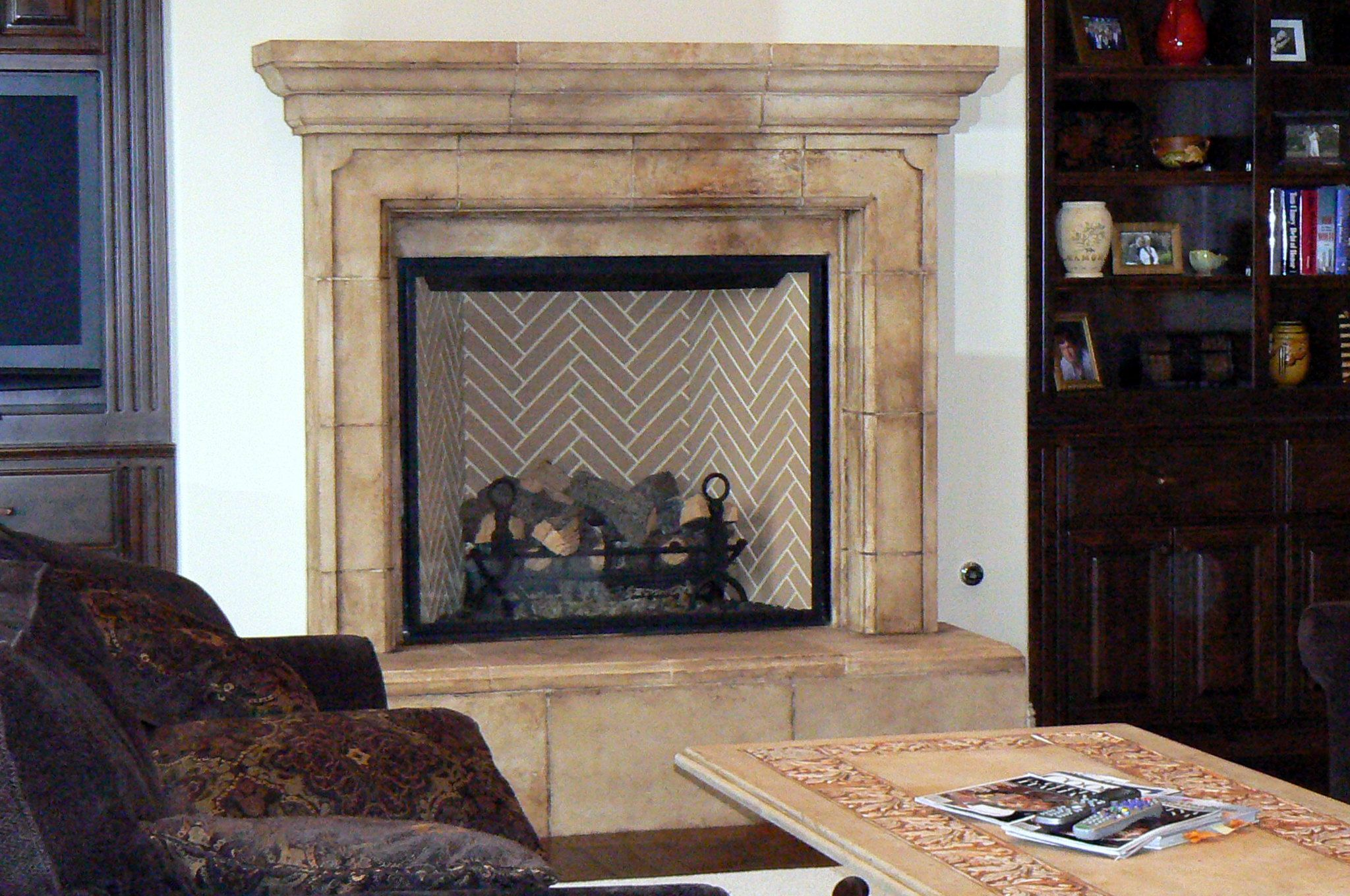 oaks cast fireplace thousand stone cal surround california ca precast