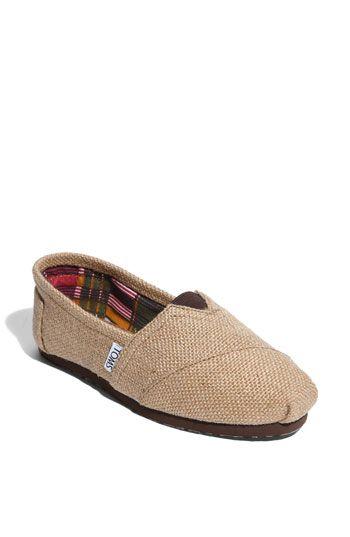 TOMS burlap shoes