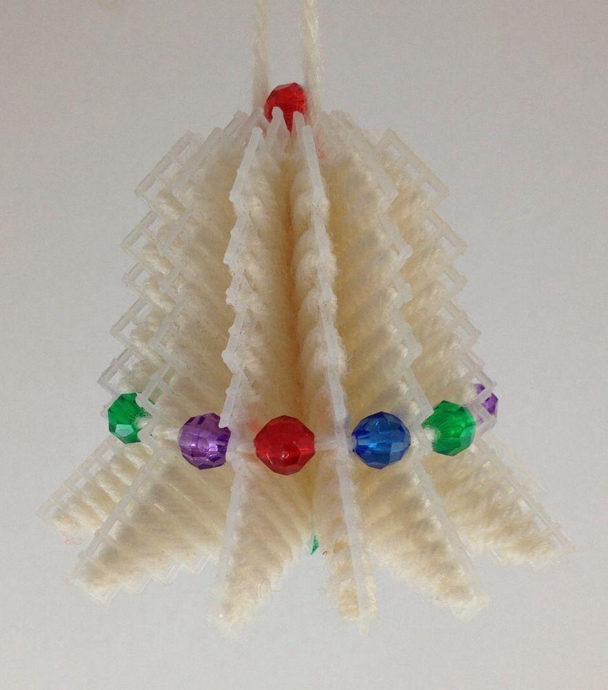 6 Handmade 3d Beaded Needlepoint Xmas Ornament Multicolor Bell Plastic Canvas Plastic Canvas Manualidades Navidad Manualidades Lona De Plastico