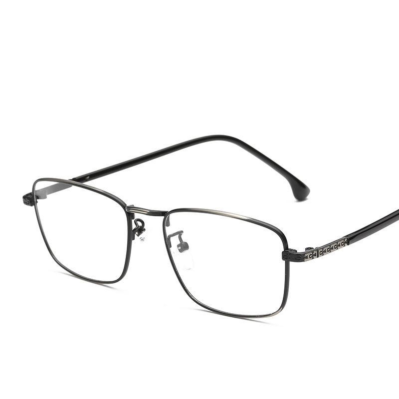 7ada1fa2251 Mens Eyewear Prescription Thin Metal Square Eyeglasses Frames Clear Lens  Fake Optical Glasses Spectacle Frames For
