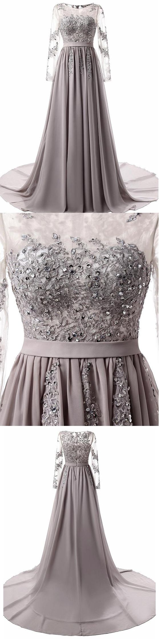 long prom dress a line simple modest silver cheap prom dress