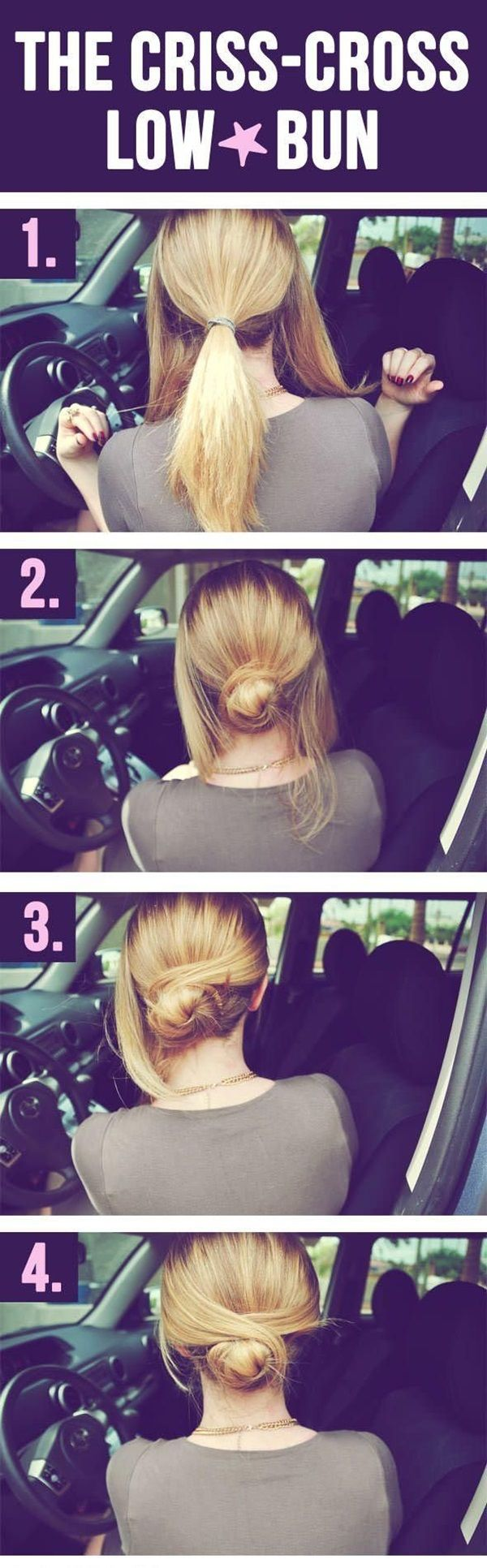 sexy and easy bun hairstyle tutorials for you hair and nails