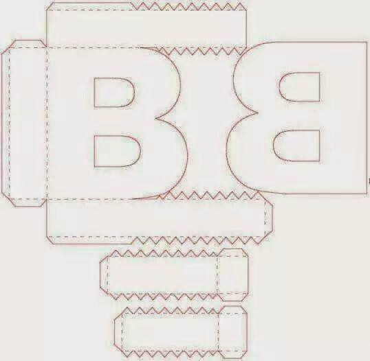 Letras 3D; Alfabeto 3D; Acetato, eva, mdf, Papelao | dekoracijos ...