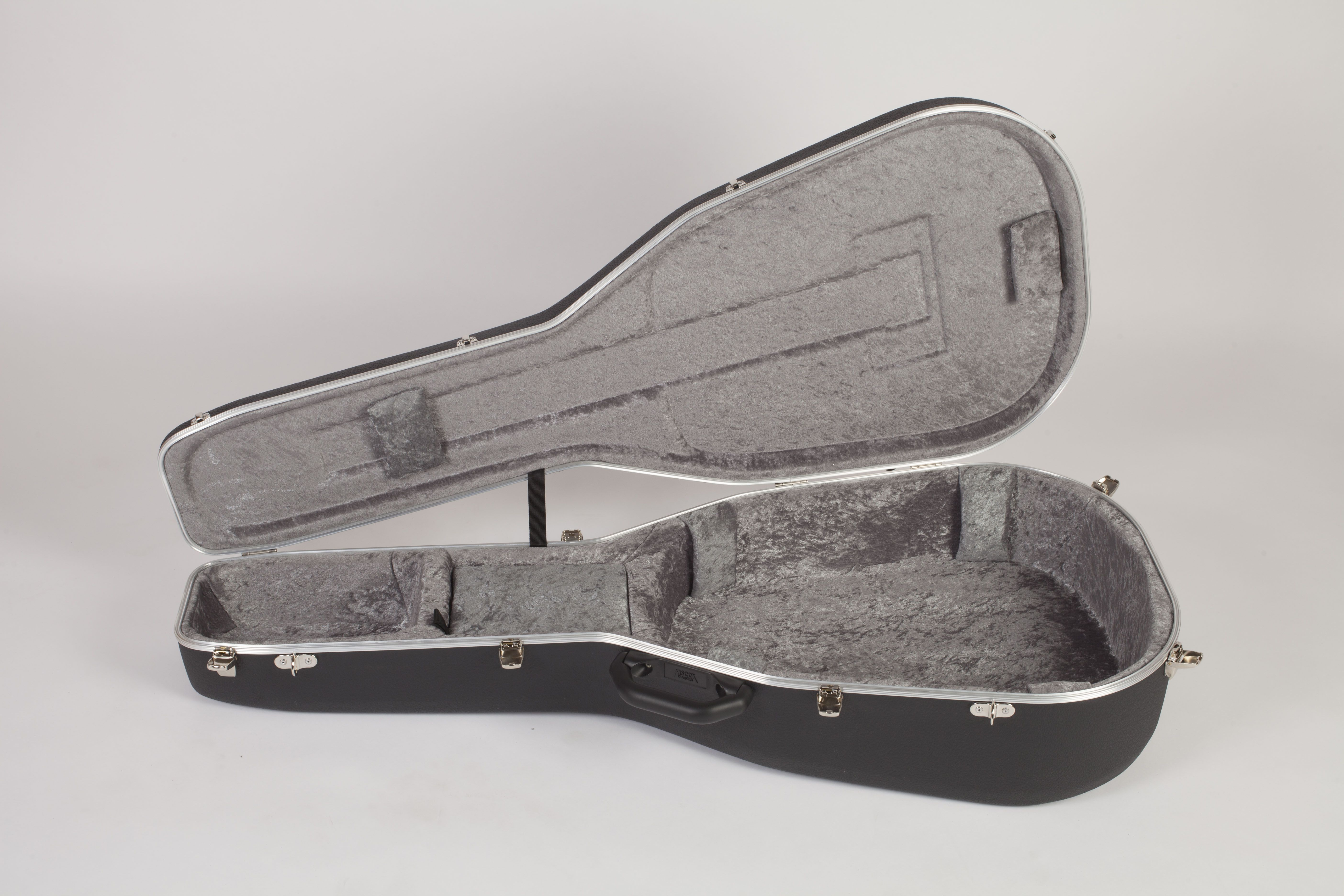 Pro Ii Bowl Back Acoustic Guitar Case Hiscox Cases Hard Shell Case Protect Your Guitar Open Case Grey And B Guitar Case Acoustic Guitar Case Acoustic Guitar