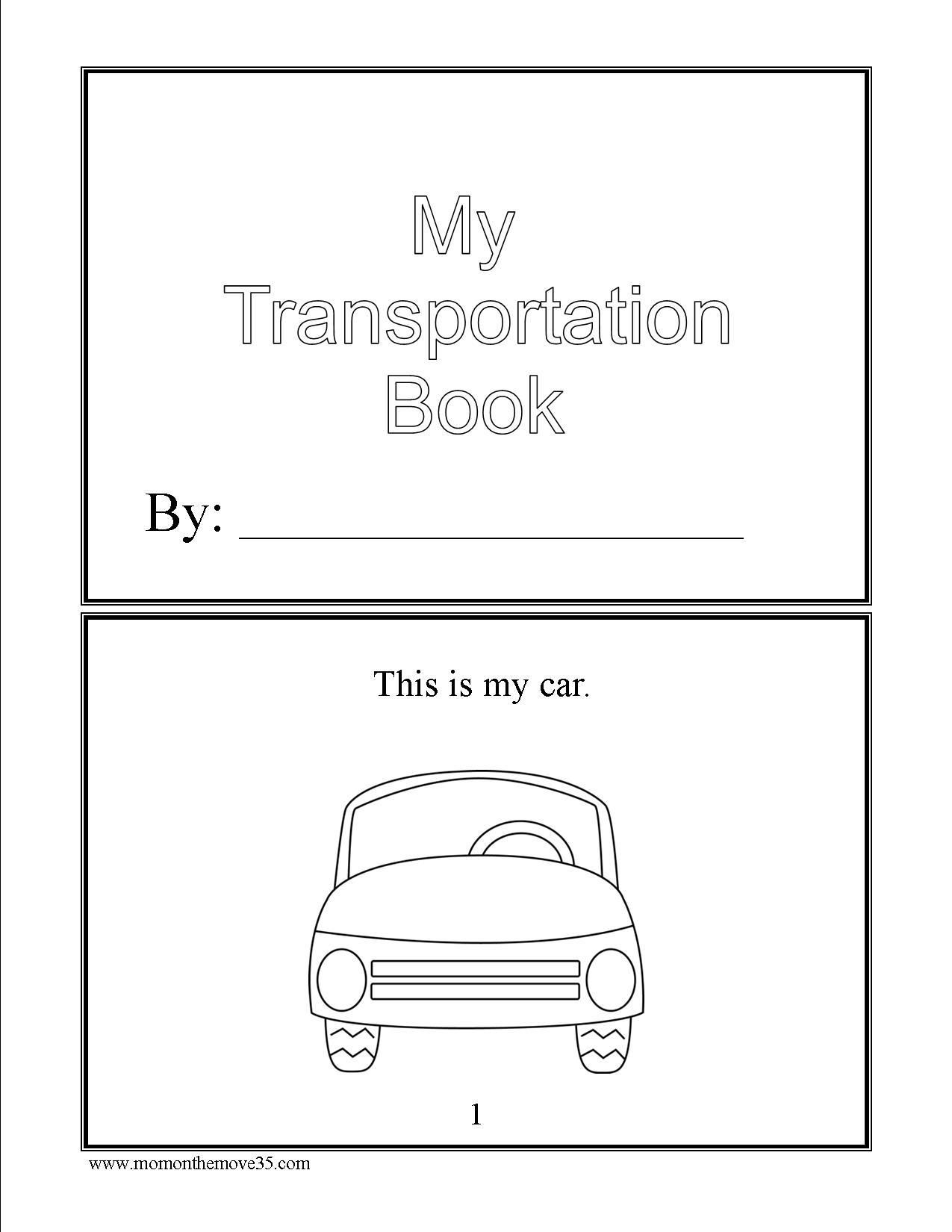 transportation activities for preschoolers transportation books