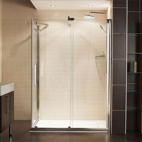 Roman Desire Frameless Sliding Shower Door With Side Panel
