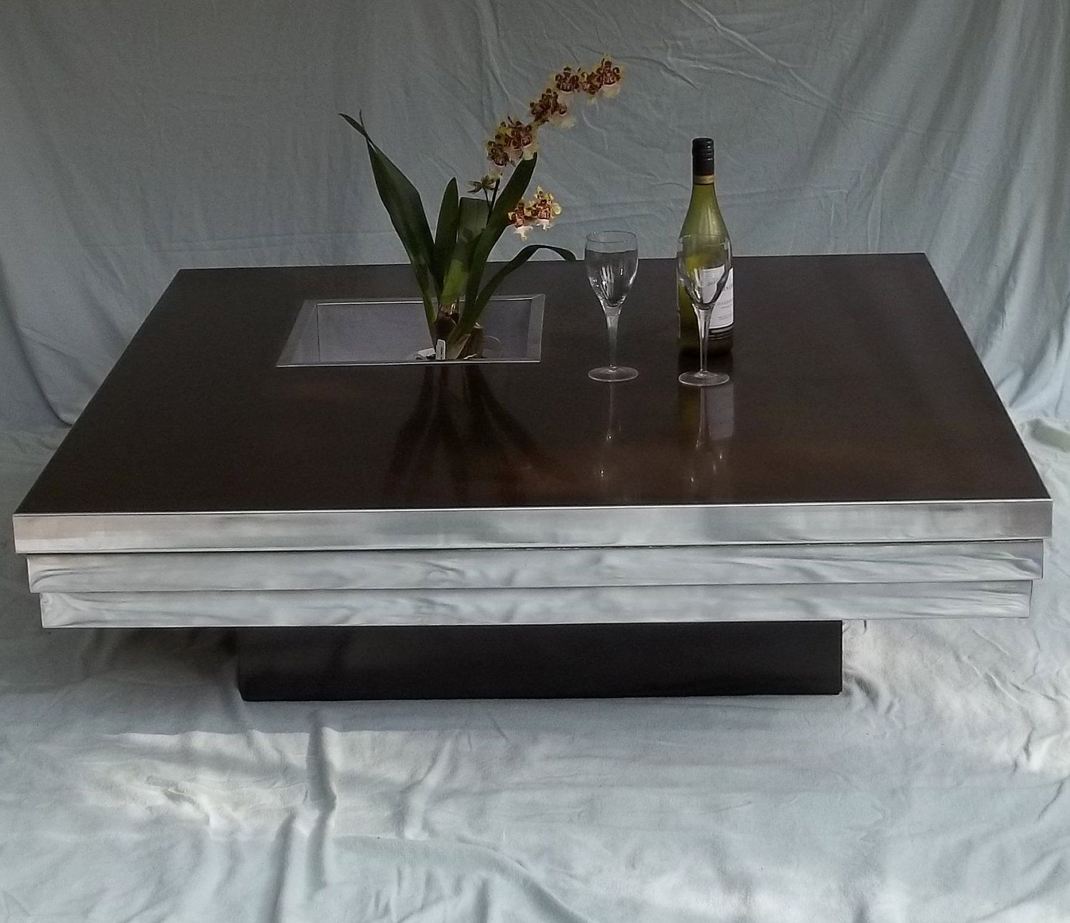 Rare Pierre Cardin Dry Cocktail Coffee Table Mid Century Modern