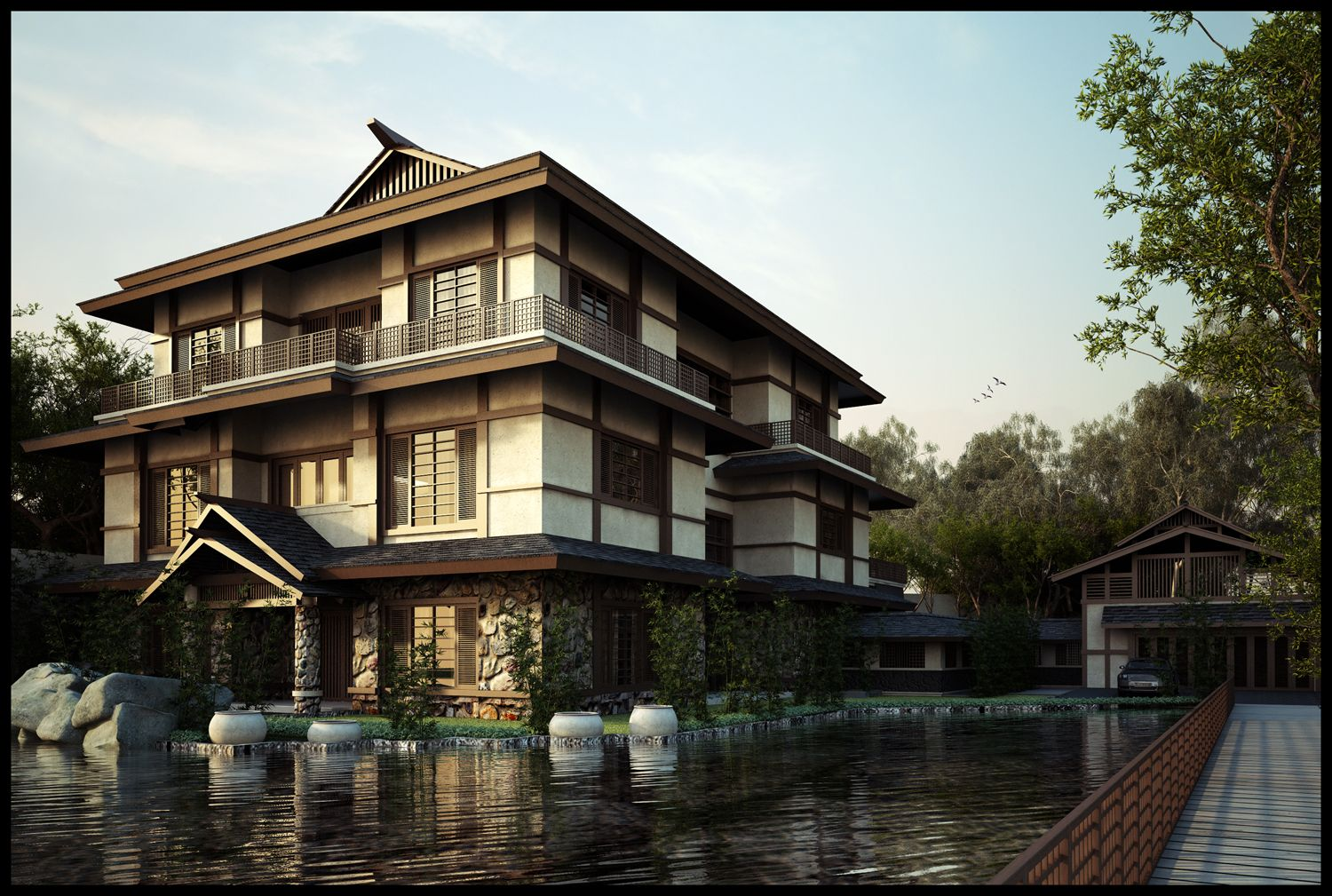 Asian style architecture designing a japanese style for Chinese house design