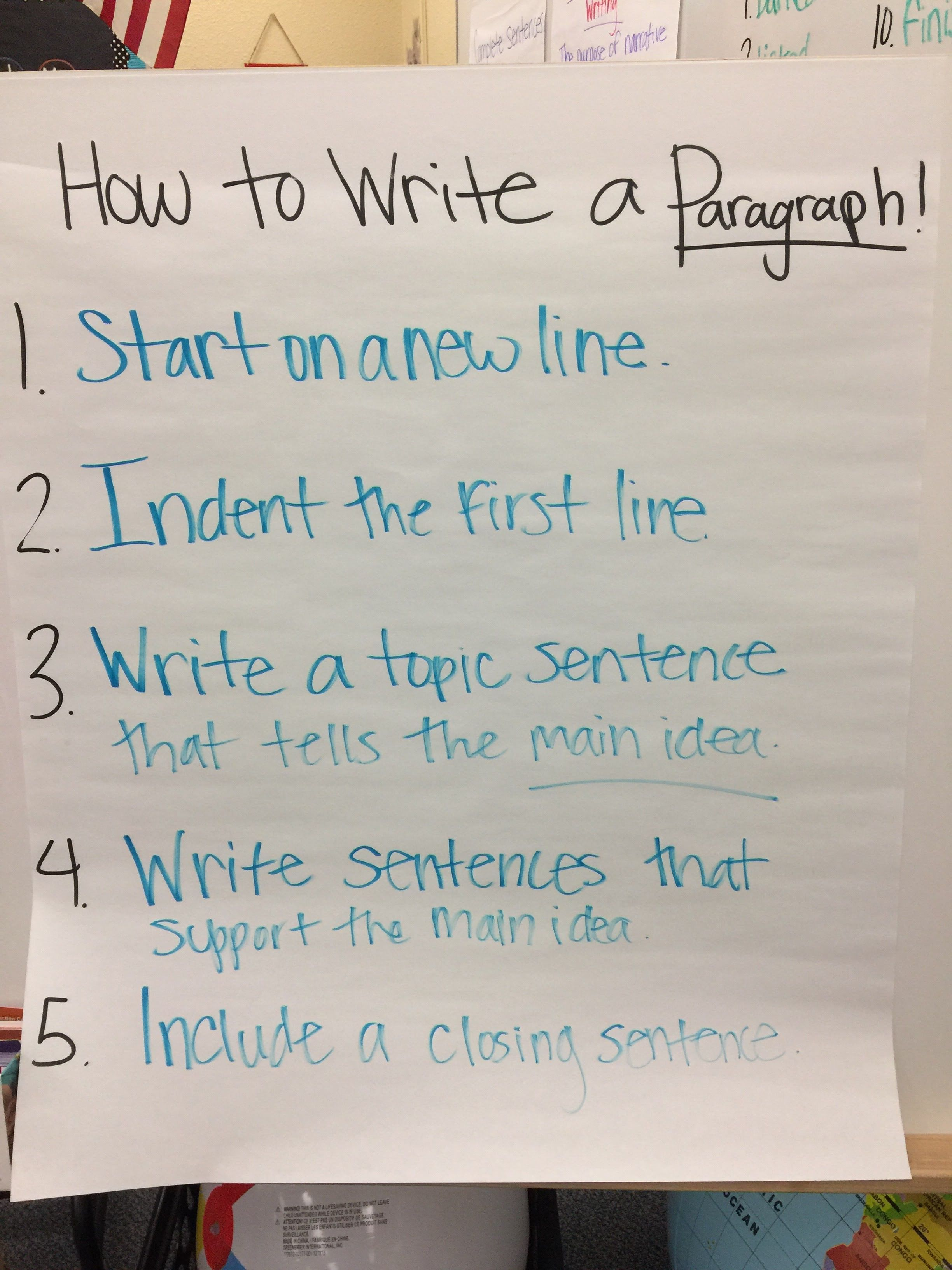 How To Write A Paragraph Anchor Chart