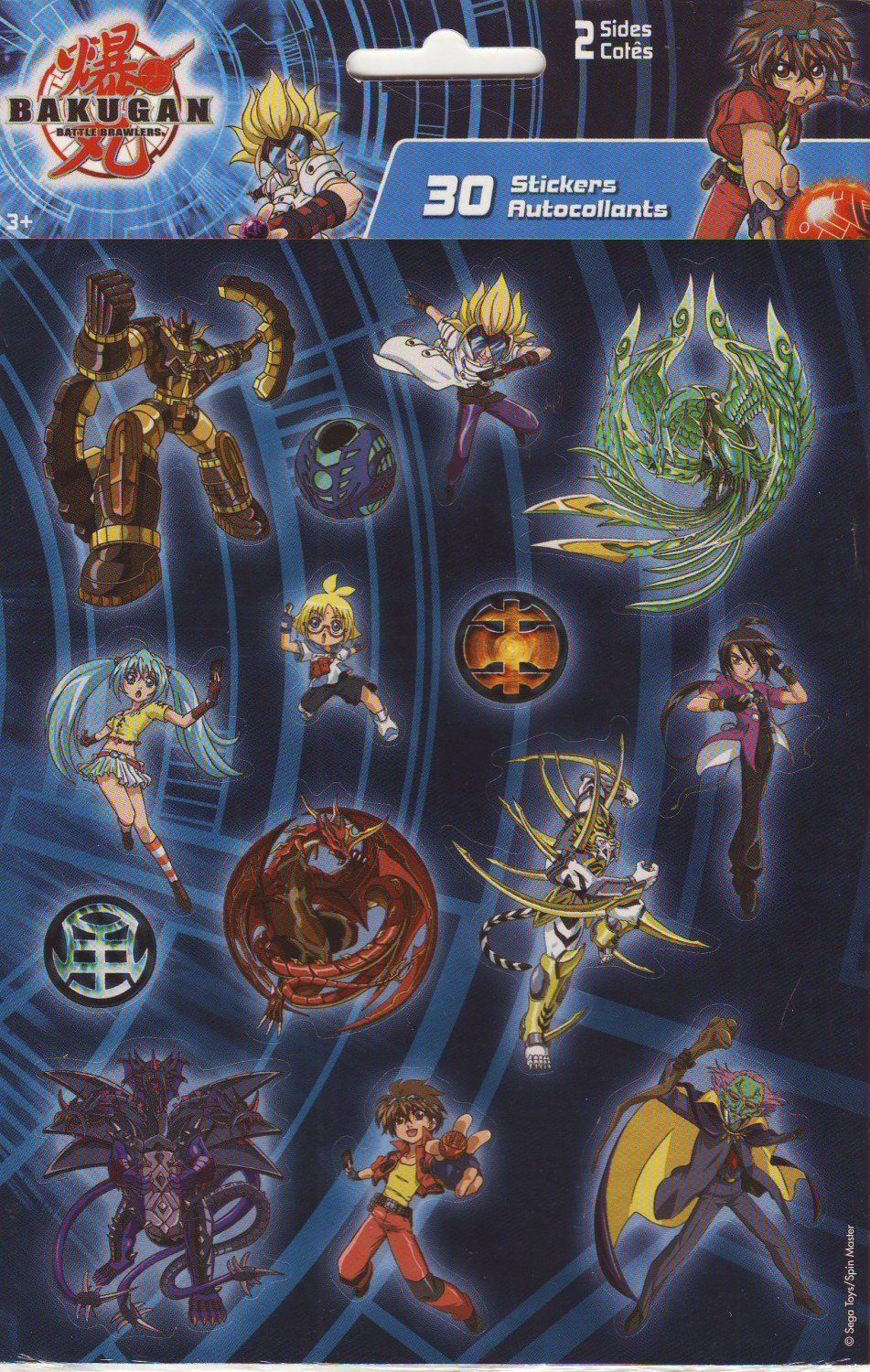 Bakugan Battle Brawlers 30 Stickers Bakugan Battle Brawlers