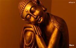 Golden Colored Lord Buddha Statue Hd Wallpaper Hindu God